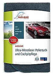 ALCLEAR A257343 Mikrofaser Auto Cockpittuch, Cockpitpflege, perfekte Innenreinigung, Autopflege und Politur