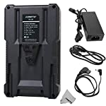 Fomito BP-130 130Wh (8800mAh/14.8V) V-Mount Battery & Charger for Sony Video Camcorder