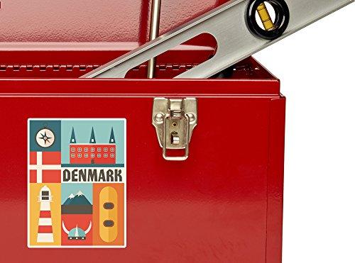 2 x Denmark Vinyl Stickers Travel Luggage #10765