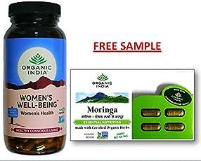 Organic India WWB 250 Capsules Bottle with free Morniga Capsule sample