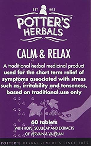 Potter's Calm & Relax - Pack of 60 Tablets