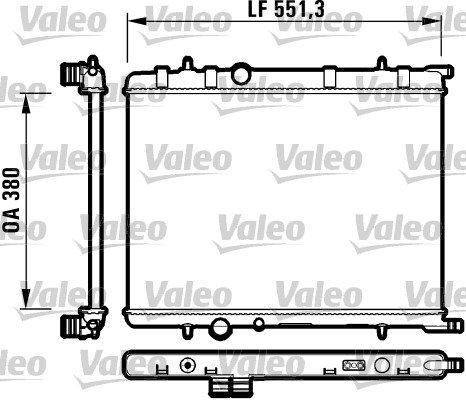 Preisvergleich Produktbild VALEO 732908 Kühler, Motorkühlung
