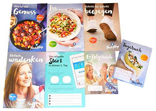 Charmate® Beauty Set //Gesichtspflege// Weight Watchers Die ersten 4 Wochen + Der erste Tag + Erfolgsbuch + Tagebuch im 7er SET - Your Way PROGRAMM Zero SmartPoints® Plan / 2018 (Weight Rechner Watcher Punkte)