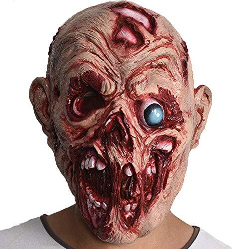Hzonder Halloween Horror Maske, Blutige Masken, Zombie Masken Party Cosplay Rot Gesicht Scary Masque Masquerade Terror Latex -
