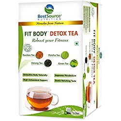 BestSource Nutrition's FIT BODY ™ DETOX TEA, 30 Tea Bags, blend of exotic teas to detox, nourish body to gain fitness, slimming goals