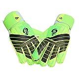 Newhaa Torwarthandschuhe Fußballhandschuhe mit doppeltem Handgelenkschutz und rutschfestem, abriebfestem Latexmaterial