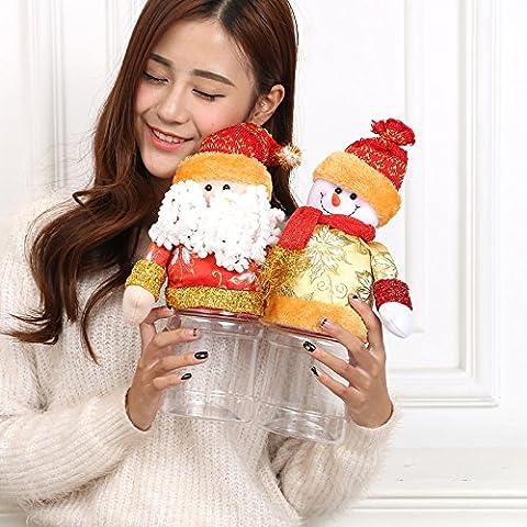 Decorazioni festa di bambini Natale regali creativo caramella vaso in asilo vecchio tessuto peluche ornamenti ornamenti decorazioni di Natale,Oro vecchio