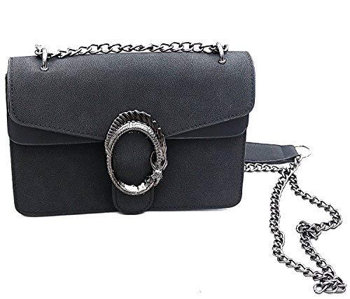 Sassyclassy , Sac bandoulière pour femme noir Schwarz 23x16x8 cm