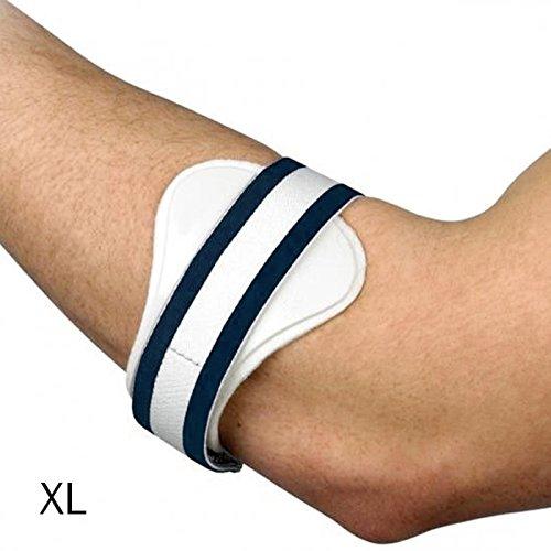 Ginocchiera da tennis, kirolak banda di supporto efficace del gomito e della gomma del golf con il rilievo di compressione per la tendonite ed il dolore dell'imbracatura - xl