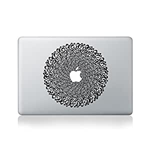 Arabic Script Mandala Autocollant en Vinyle pour Macbook (Macbook 13 pouces et Macbook 15 pouces)