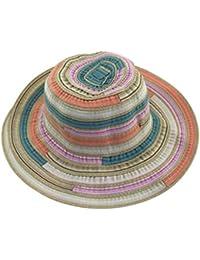 Gysad Puede ser doblado Sombrero de Pescador Sombrero Mujer Playa Algodón Gorro de Pescador Estilo Nacional Sombrero Mujer