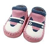 Falaiduo Newborn Toddler Baby Girls Boys Anti-Slip Socks Slipper Boots for 0-4 Years (12-18M, A)