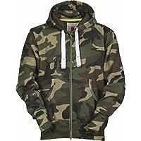 S.B.J - Sportland Camouflage Classic Army Style Zip Jacke/Hoody / Sweatjacke/Kapuzensweater / Pullover in Tarnfarbe