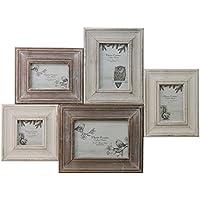 Shabby Chic Woodland–Cornice portafoto, cornice collage di foto in legno
