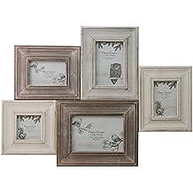 Marco de fotos de madera, diseño Shabby Chic, múltiples ~ Collage marco ...