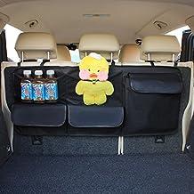 HCMAX Coche Asiento Trasero El Maletero Organizador Bolsa Colgante de Juguetes Para Niños Bolsa de Almacenamiento Larga Accesorios de Carga Interiores Automotrices para SUV Vans Cars Trucks