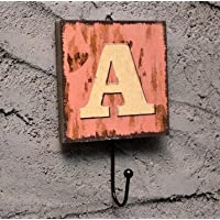 Wall Hook Decorative Vintage Coats Creative Key Holder Door Hanger Chic Unique Rack A alphabet letter