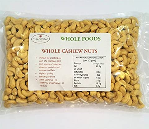 Chandras Whole Foods - Whole Cashew Nuts