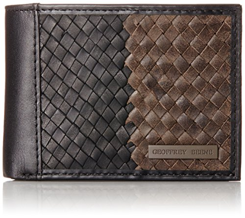 geoffrey-beene-mens-slim-billfold-with-basket-weave-facing-black-grey-one-size