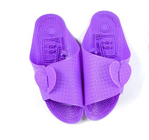 Voyage Accessoires Avion chaussons pliable massage chaussons -violet