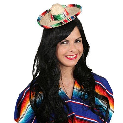 Kleiner Sombrero Hut Mexikaner Minihut Miniatur Mexikanerhut Salvatore Mexiko Strohhut Mexikanischer Sommerhut Faschingshut Tequila Party Kopfbedeckung Karnevalskostüme ()