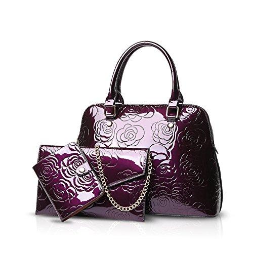 NICOLE&DORIS handtaschen set für frauen Umhängetasche Schultertaschen Henkeltaschen Tasche Dauerhaft Weich PU