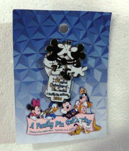 Disney Pin Limited Edition von 1.2003D Disney 's Pin Celebration A Familie Pin Gathering mit Kissing Mickey Mouse Minnie Maus von der 2004Version (Disneyland Lanyard)