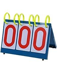 SODIAL(R)Sportif polyvalent Trois chiffres flip tableau de bord pour concours de connaissances.