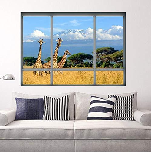 aufkleber PVC hintergrund Decor Afrika Land Dekoration raum Aufkleber Wandkunst Aufkleber wasserdicht poster ()