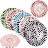 5 Stück Haus Ablaufabdeckung Badewanne Duschablauf Abdeckung Haar Fänger Haar Stopper Boden Gummi Waschbecken Sieb für Bad und Küche, 5 Farben