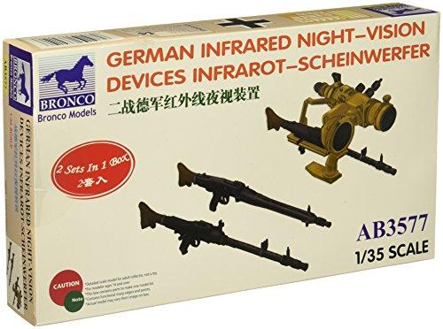 Preisvergleich Produktbild Bronco Models AB3577 - Modellbau Zubehrö German Infrared Night-Vision Devices Infrarot-Scheinwerfer