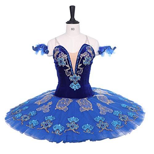 QSEFT Professionelle Leistung Ballett Tutu Königsblau Farbe Erwachsene/Kind Klassische Ballett Nussknacker Tutus Blue Bird Kostüme,Childsize12