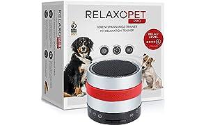 RelaxoPet PRO - dispositivo di rilassamento per cani con onde sonore ideale durante i temporali o i fuochi d'artificio, da soli o in viaggio, acustico e inudibile, 5 V, senza fili