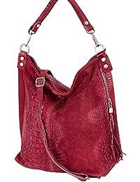Sac portés épaule, sacs fourre-tout pour femme, Mod. 2107 cuir facon croco, Italy