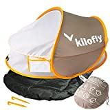 Kilofly KF Pop Up-Lettino dai 35 Baby Travel-Sacco a pelo, 2 ganci