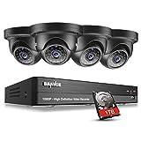 SANNCE 4CH 1080P HD 5-in-1 DVR Video Surveillance Recorder w/ 4x 1920*1080P 2.1MP