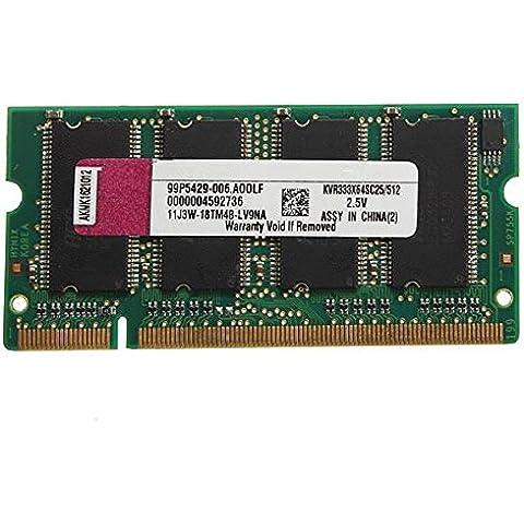 512MB DDR- 333 KIT PC2700 ( SODIMM ) Memoria RAM 200 -Pin para el ordenador portátil