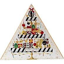 Yankee Candle 1521558 Geschenkset, 23 Teelichte und 1 Votivkerze Weihnachtskalender, Kerzenwachs, mehrfarbig, 30 x 5 x 40 cm