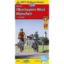 ADFC-Radtourenkarte 26 Oberbayern West / München 1:150.000, reiß- und wetterfest, GPS-Tracks Download (ADFC-Radtourenkarte 1:150000)