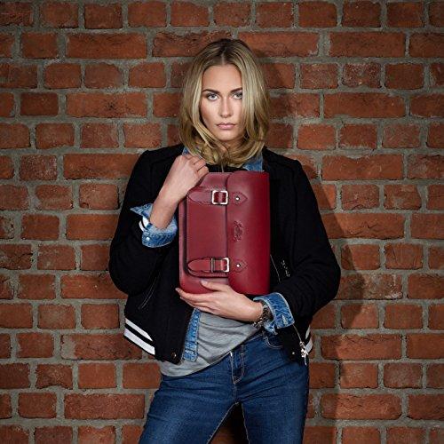 SID & VAIN borsa a spalla TESSA - sacchetto - borse a tracolla adatto iPad - borse a secchiello donna vera pelle marrone