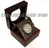 Vintage tavolo decorativo orologio in legno nautico marittimo orologio collezionismo Collection
