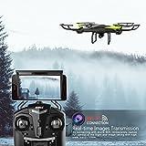 Drone-con-Cmara-Potensic-U42W-Actualizado-Wifi-FPV-24GHz-4CH-6-Axis-Gyro-RC-Quadcopter-Drone-Videocmara-RTF-Suspensin-De-Altura-UFO-Prima-Hover-Modo-Sin-Cabeza-Flips-3D