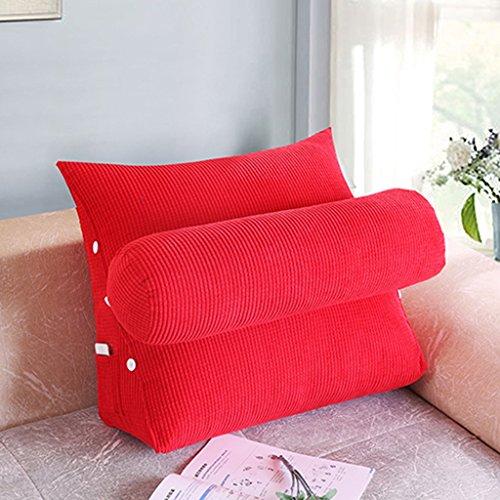 MMM- Lit Coussin Bureau Canapé Coussin Triangulaire Chevet Dossier Ceinture Pad Garde-Cou ( Couleur : Rouge , taille : 60*50*20cm )