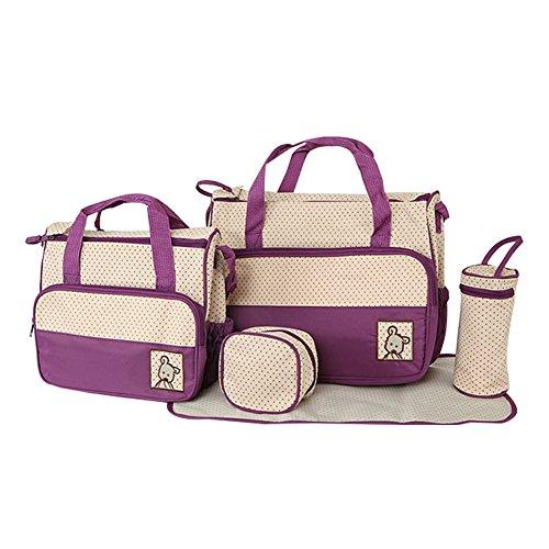 Demarkt Wickeltaschen Set Babywickeltasche Krankenhaustasche Mutterschaft Tasche Schwangerschaft Tasche Lila