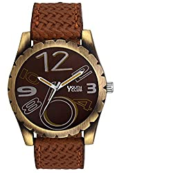 YOUTH CLUB ELEGANT ANALOG BROWN DIAL MEN'S WATCH-BRWN-123