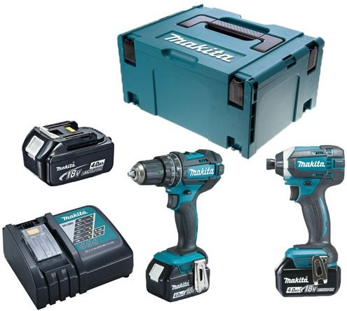 Makita DLX2188M3J Combi Drill (DHP482Z) & Impact Driver
