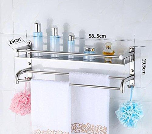 Gäste-handtuchhalter Antik (Daeou Edelstahl bad mit wc Ablagen Handtuchhalter Badezimmer Wand)