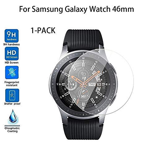 Yallylunn 1-Pack Tempered Glass Screen Protector Schlaf Tracker Uhr Armband Wasserdichtes OLED Touchpad for Samsung Galaxy Watch 46/42 Mm - Magazin Akzent