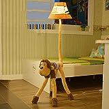 Edge to Stehlampe Karikatur Kreative Nette Kind-Raum-Fußboden-Lampen-Wohnzimmer-Schlafzimmer-Nachttisch-Affe-vertikale Lampe