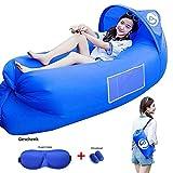 Air Sofa, Aufblasbarer Lounger wasserdichtes tragbares aufblasbares Sofa/Bett/kampierender Strand-und Gartenfreizeitschlafsack-kampierender Outdoor für Camping Wander, Schwimmbad- und...
